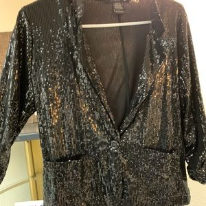 Sparkly New Year's Eve cropped blazer!